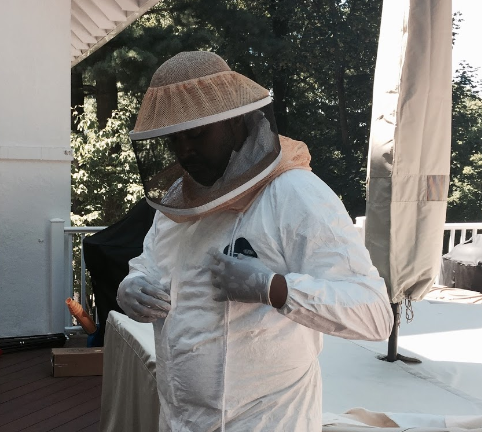 our queens exterminator gearing up for stinging insect control as part of our queens pest control